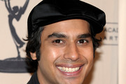 Kunal Nayyar Suede Dress Hat