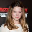 Lea Seydoux Hair - Half Up Half Down