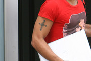Lenny Kravitz Cross Tattoo