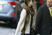 Lily Aldridge Patterned Scarf