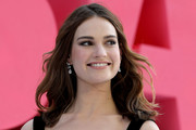 Lily James Shoulder Length Hairstyles