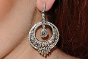 Lindsay Lohan Dangling Diamond Earrings