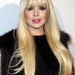 Lindsay Lohan Long Straight Cut with Bangs