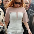Lindsay Lohan Clothes - Peplum Top