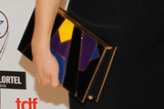 Lucy Liu Hard Case Clutch