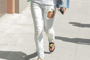Michelle Rodriguez Ripped Jeans