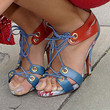 Madalina Ghenea Strappy Sandals