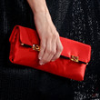 Marisa Tomei Leather Clutch