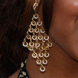 Meagan Good Gold Chandelier Earrings
