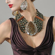 Michaela Kocianova Beaded Statement Necklace