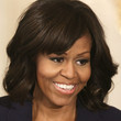 Michelle Obama Hair - Medium Wavy Cut with Bangs