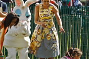 Michelle Obama Is a Floral Beauty in a Tracy Reese Easter Dress