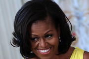 Michelle Obama Short Wavy Cut