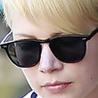 Michelle Williams Rectangular Sunglasses