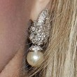 Morgan Fairchild Jewelry - Dangling Pearl Earrings