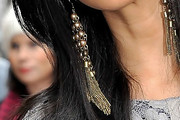 Nicole Scherzinger Dangling Chain Earrings