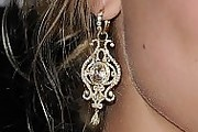 Nora Arnezeder Gold Chandelier Earrings