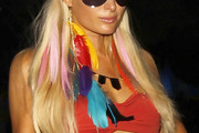 Paris Hilton Feathered Earring