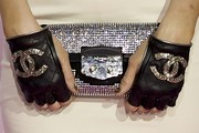 Paris Hilton Leather Gloves