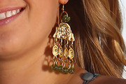 Petra Kvitova Gold Chandelier Earrings