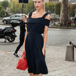 Poppy Delevingne Clothes - Off-the-Shoulder Dress