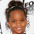 Quvenzhane Wallis Hair - Bobby Pinned updo