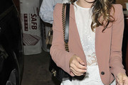 Rachel Bilson Leather Shoulder Bag