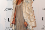Rachel Zoe Wears a Fur Coat to Elle's Hollywood Tribute