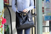 Renee Zellweger Leather Shoulder Bag