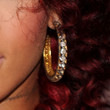 Rihanna Jewelry - Diamond Hoops