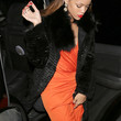 Rihanna Clothes - Fur Coat
