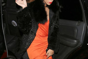 Rihanna Fur Coat