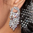 Salma Hayek Jewelry - Dangling Diamond Earrings
