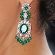 Salma Hayek Jewelry - Dangling Gemstone Earrings