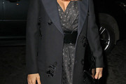 Salma Hayek Evening Coat