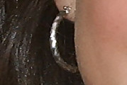Selena Gomez Sterling Hoops