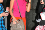Shay Mitchell Leather Shoulder Bag