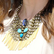 Sophia Bush Gemstone Statement Necklace