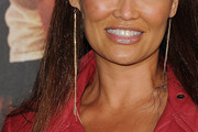 Tia Carrere Dangling Chain Earrings