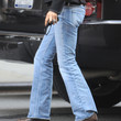 Uma Thurman Clothes - Bootcut Jeans