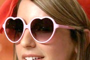 Vanessa Lengies Heart Sunglasses