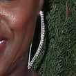 Viola Davis Jewelry - Dangling Diamond Earrings