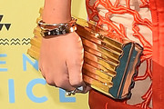 Bella Thorne Metallic Clutch