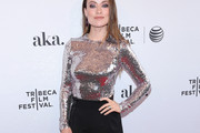 Olivia Wilde Embellished Top