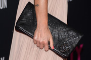 Laeticia Hallyday Leather Clutch