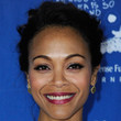 Zoe Saldana Hair - Bobby Pinned updo