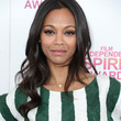 Zoe Saldana Hair - Long Wavy Cut