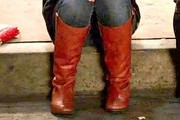 Zooey Deschanel Knee High Boots