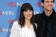 Zooey Deschanel Long Straight Cut with Bangs