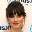 Zooey Deschanel Hair - Messy Updo